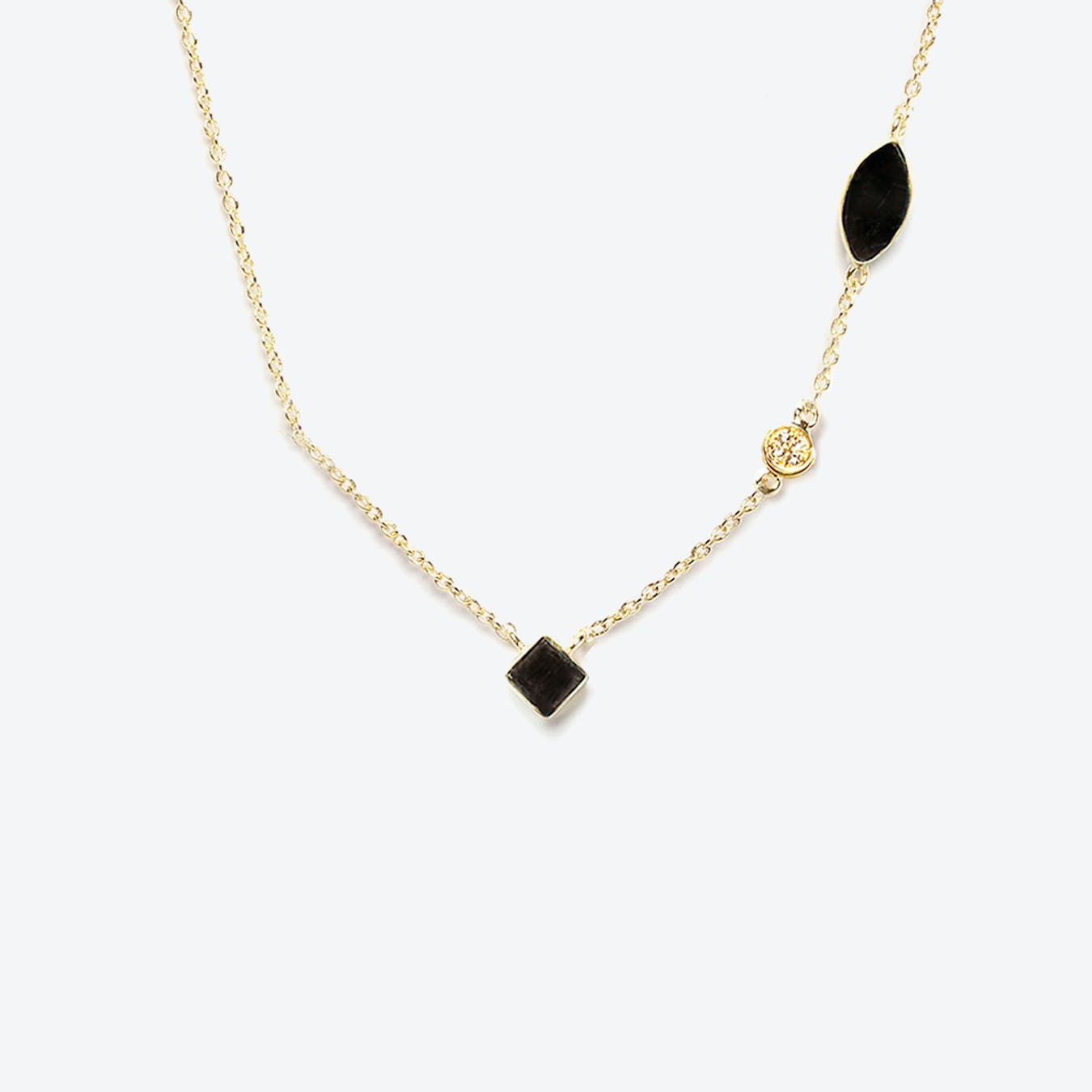 Shayan Necklace - Textured Onyx