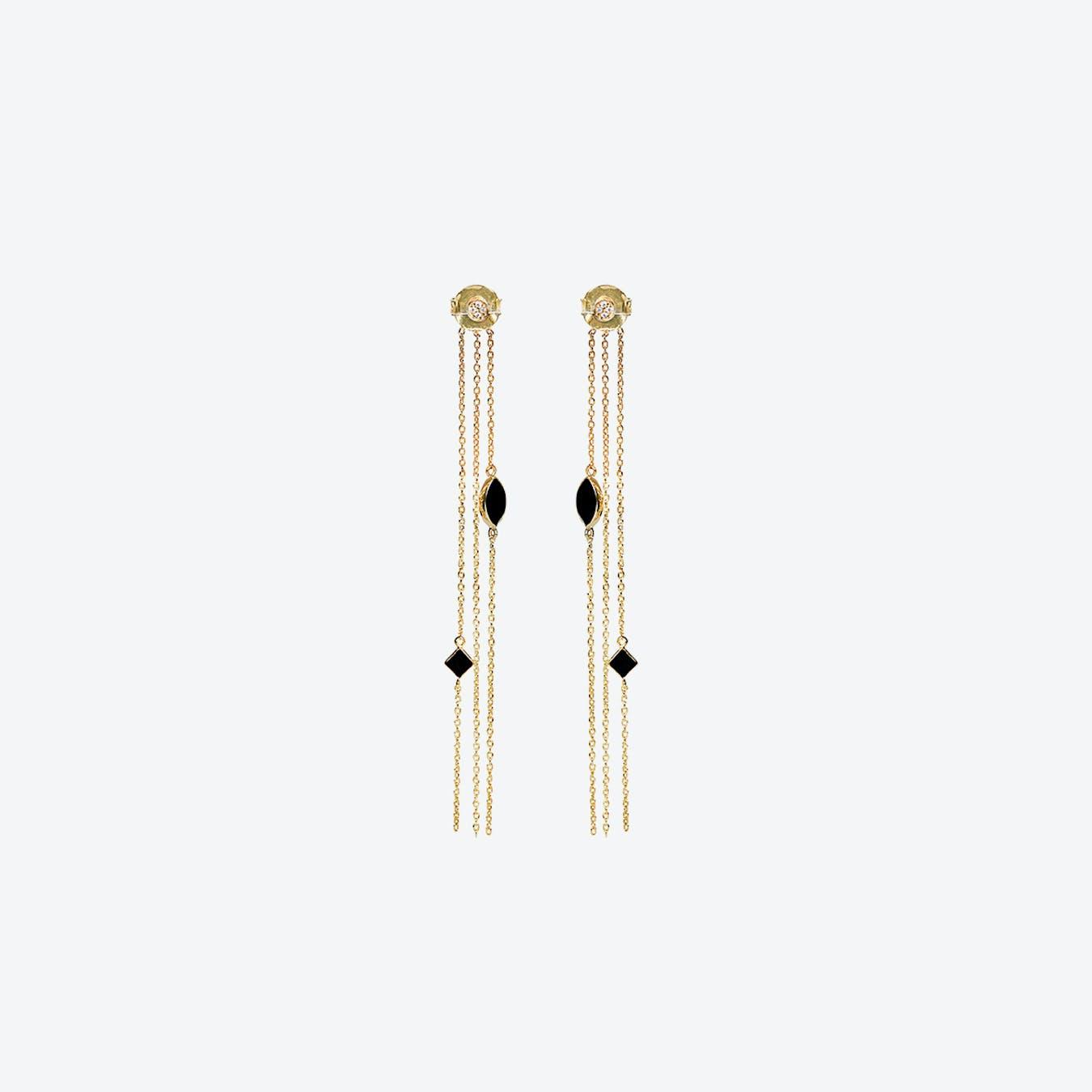 Shayan Earrings - Textured Onyx