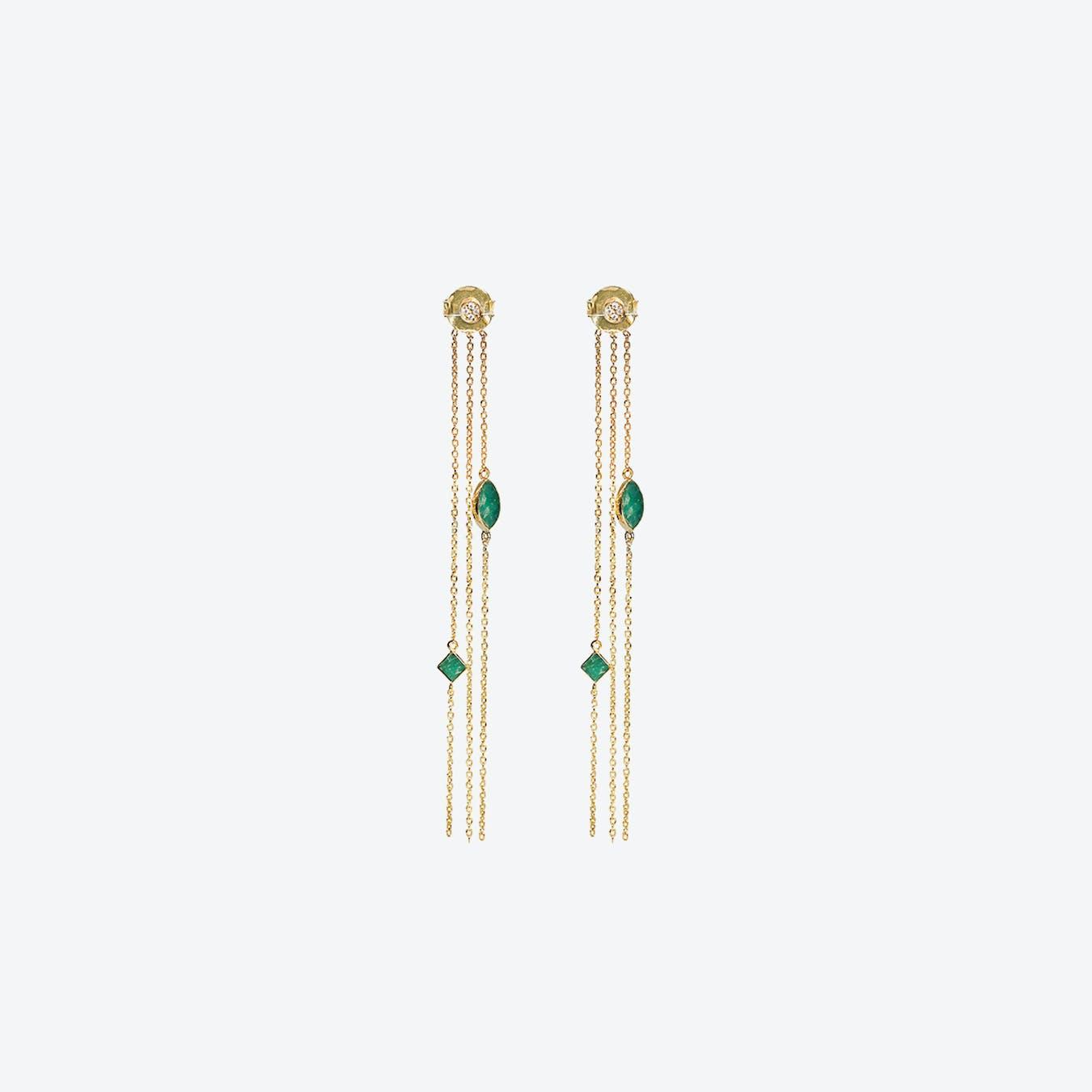 Shayan Earrings - Amazonite