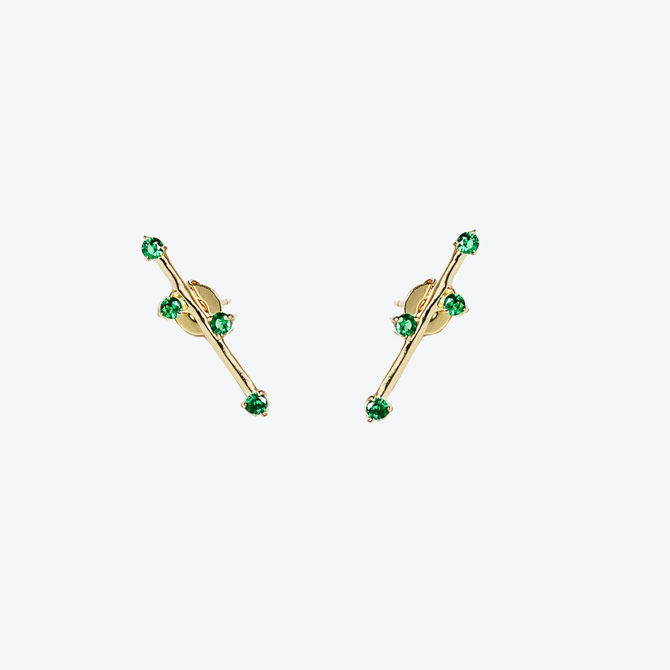 Delia Earrings - Green Zircon