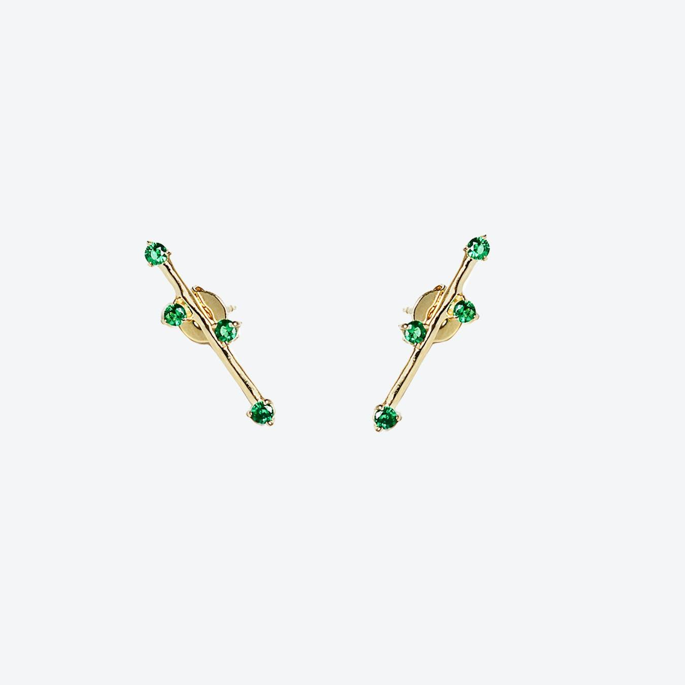 Delia Earrings - Green Zircon