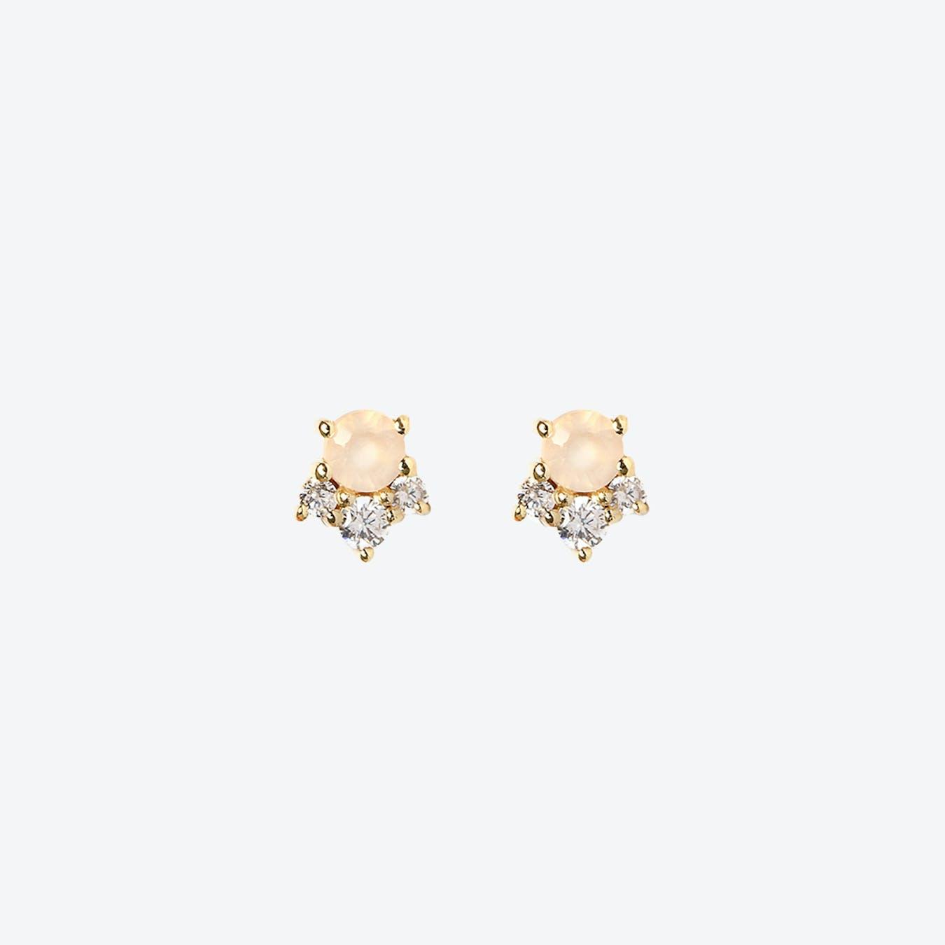 Nahia Earrings - Pink Chalcedony