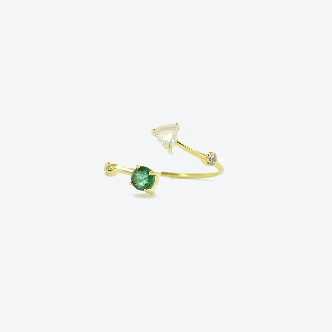 Galia Ring - Aventurine and Opalite