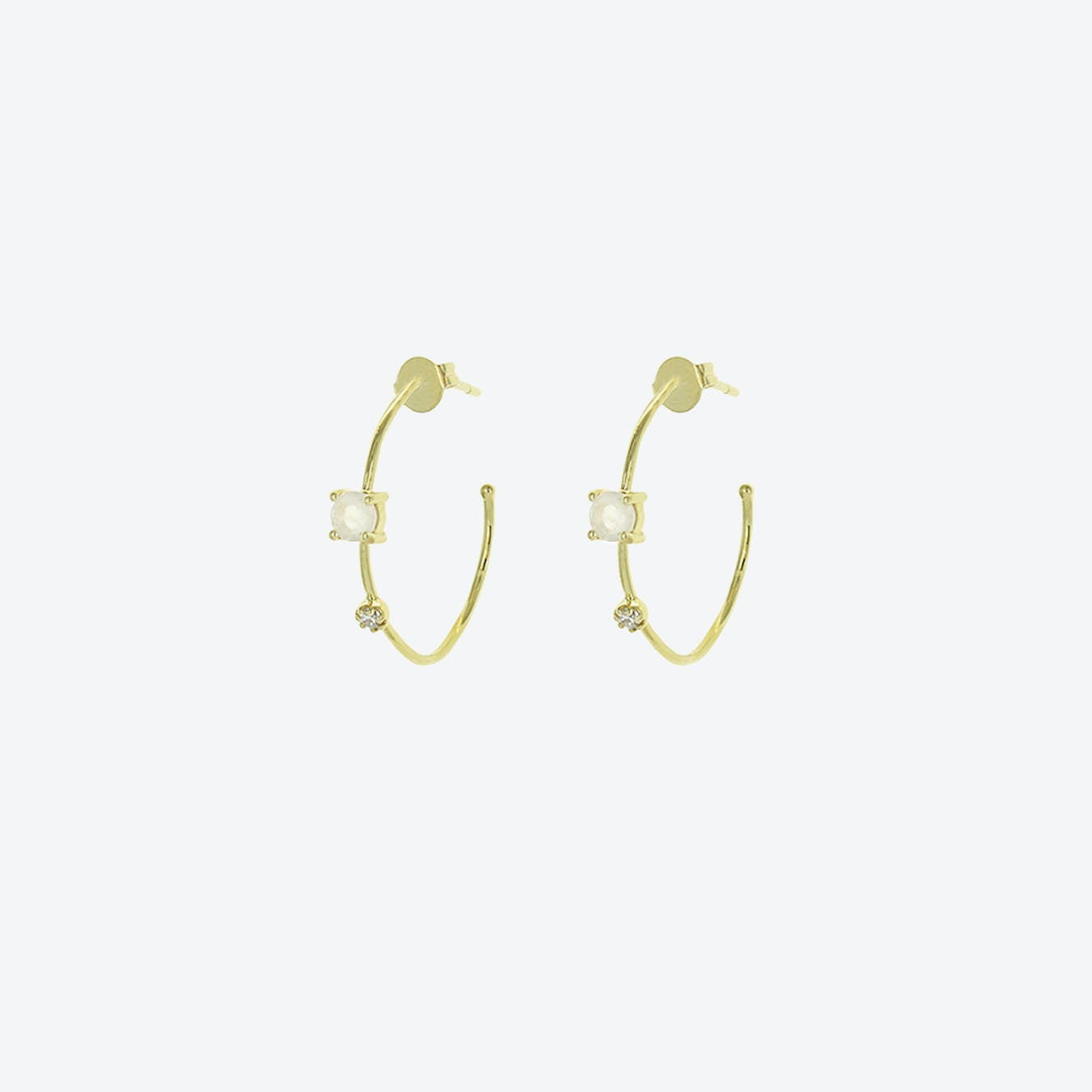 Galia Earrings - Moonstone
