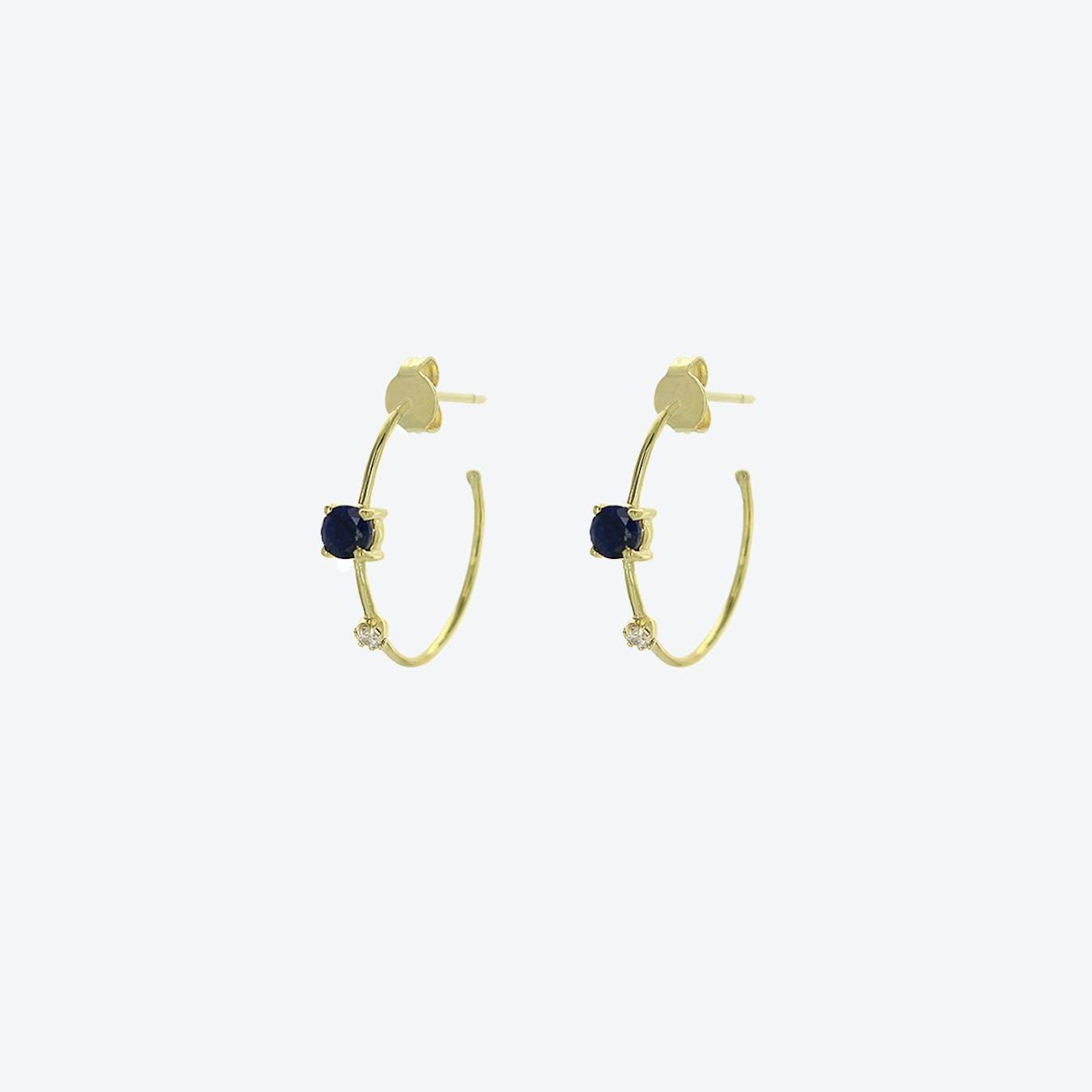 Galia Earrings - Sapphire