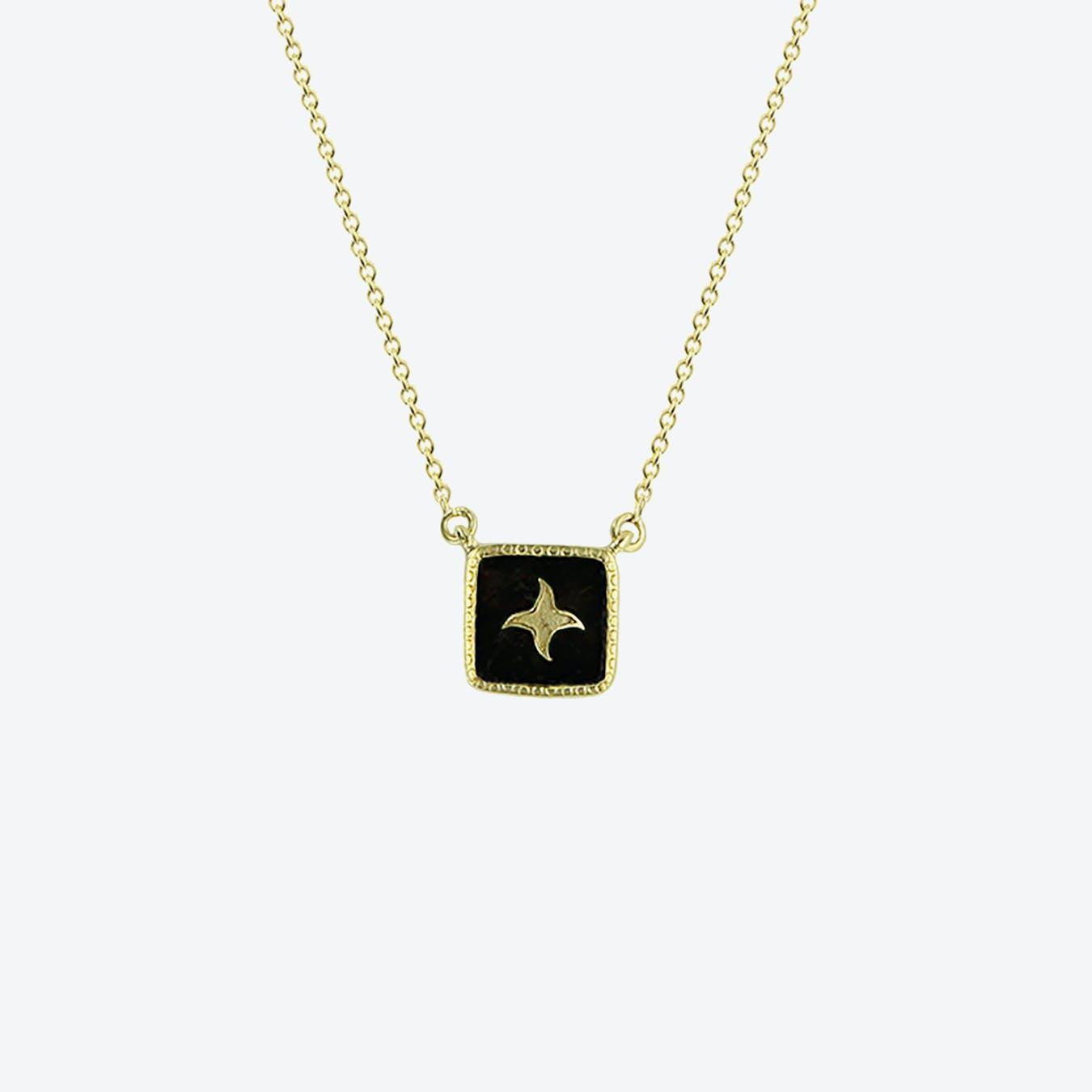 Meruba Necklace - Textured Onyx