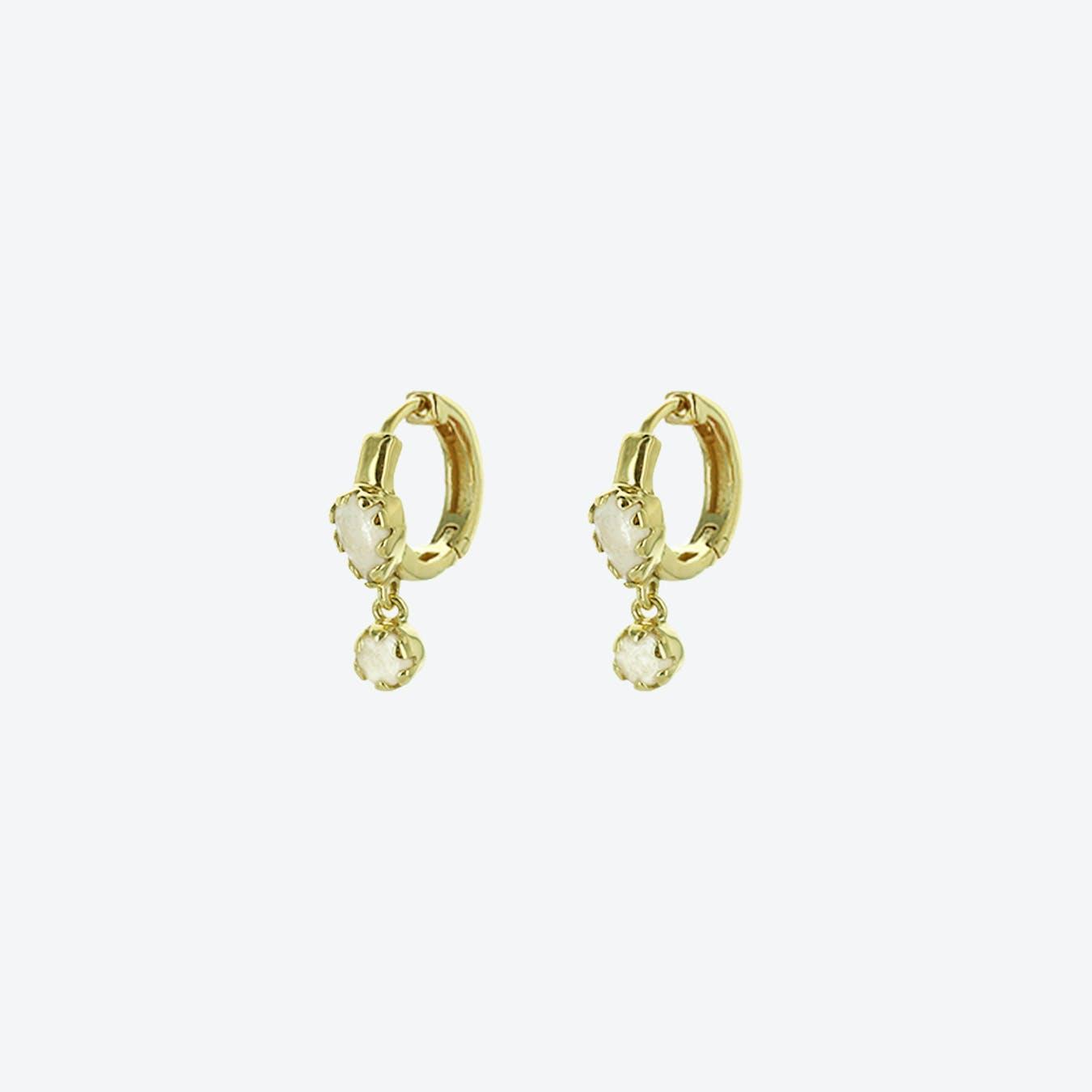 Safra Earrings - Moonstone