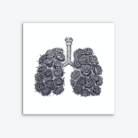 Lungs With Peonies Art Print