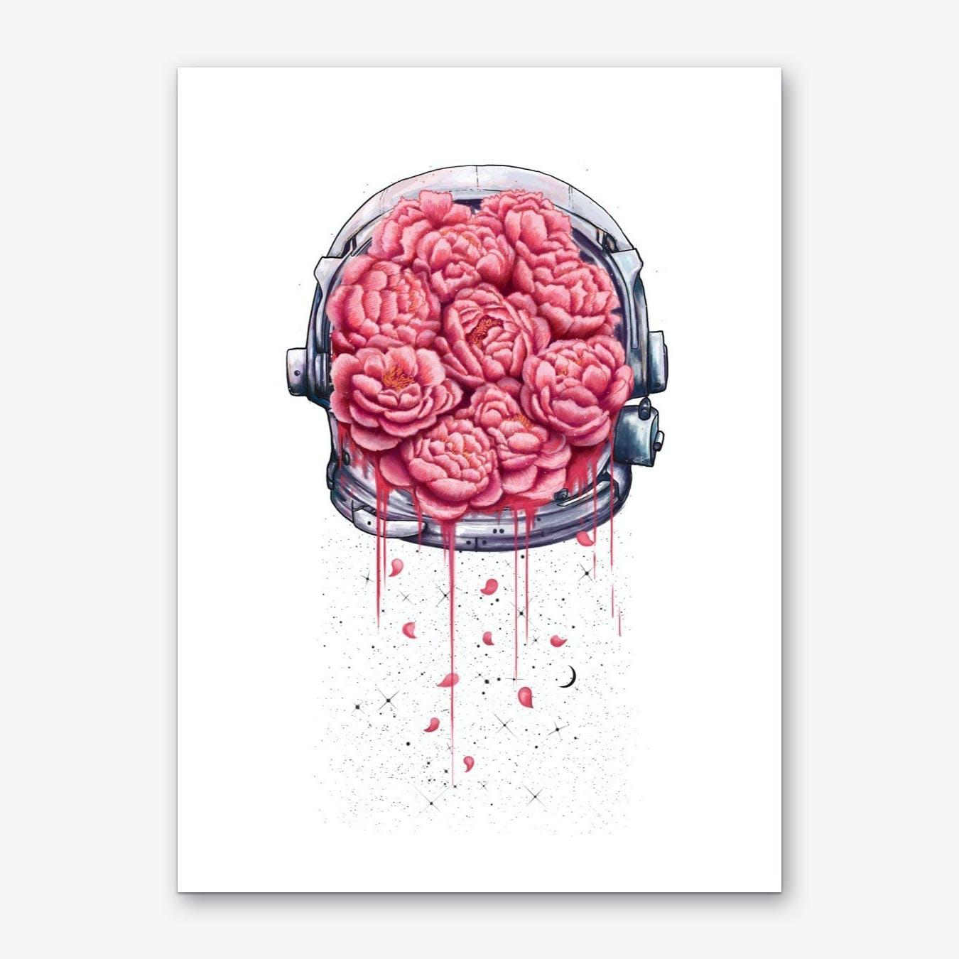 Cosmic Peonies Art Print