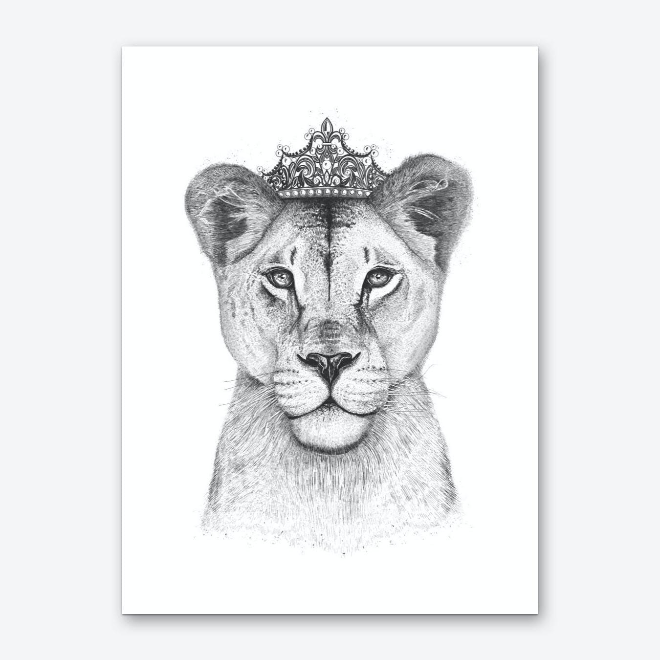 The Lioness Queen Art Print