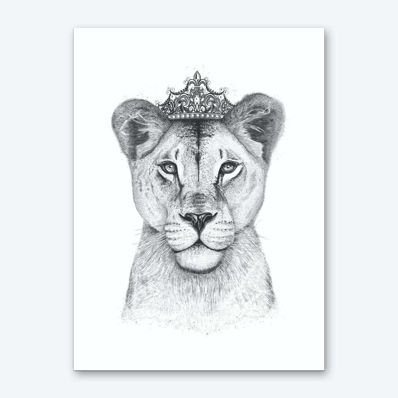 The Lioness Queen Art Print