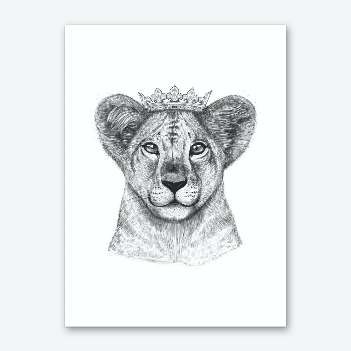 The Lion Princess Art Print