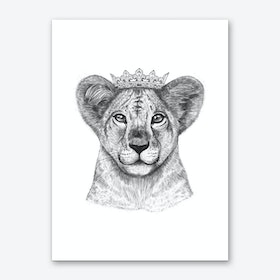 The Lion Princess Art Print