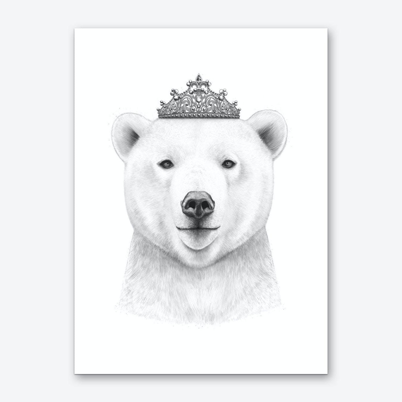 Queen Bear Art Print