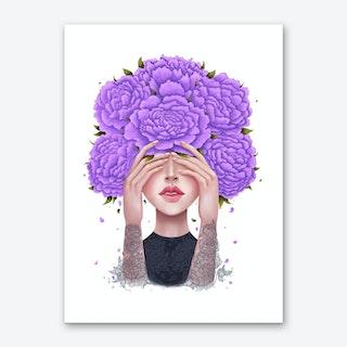 Ultraviolet Peonies Art Print