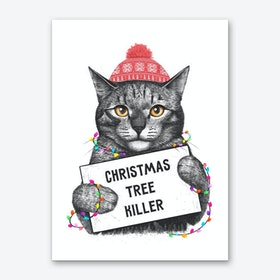 Christmas Tree Killer Art Print