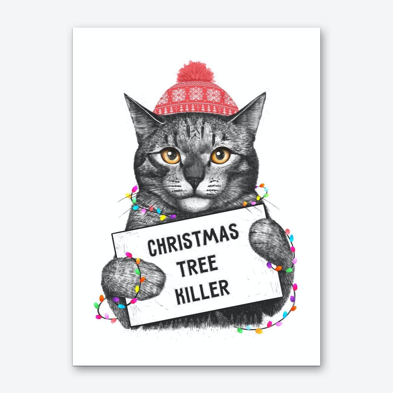 Christmas Tree Killer Art Print