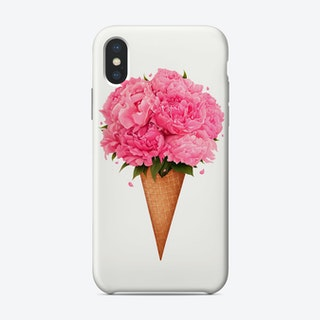 Ice Cream With Peonies Phone Case