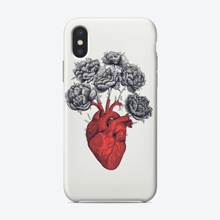 Heart With Peonies Phone Case