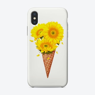Ice Cream With Sunflowers Phone Case