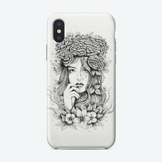 Floral Girl Phone Case