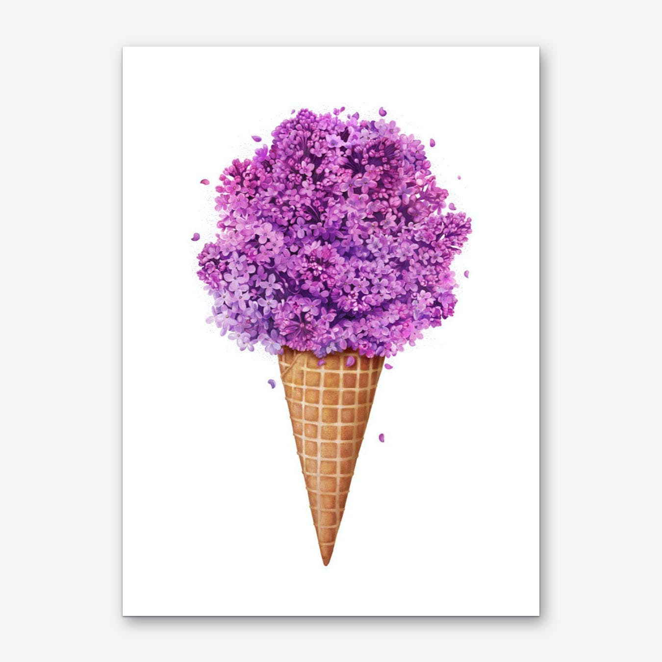 Ice Cream With Lilac Art Print