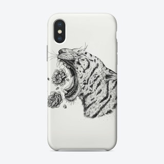 Tiger With Peonies Phone Case