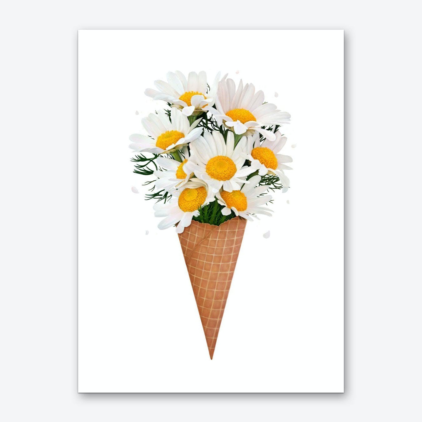 Ice Cream With Chamomile Art Print