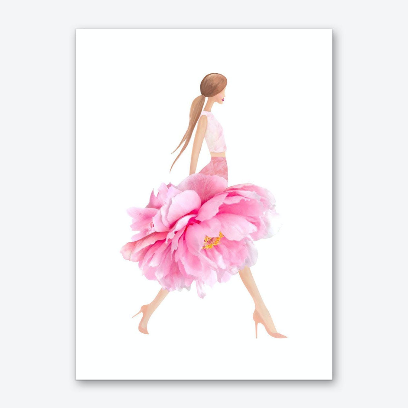 Fashion Peonies Art Print