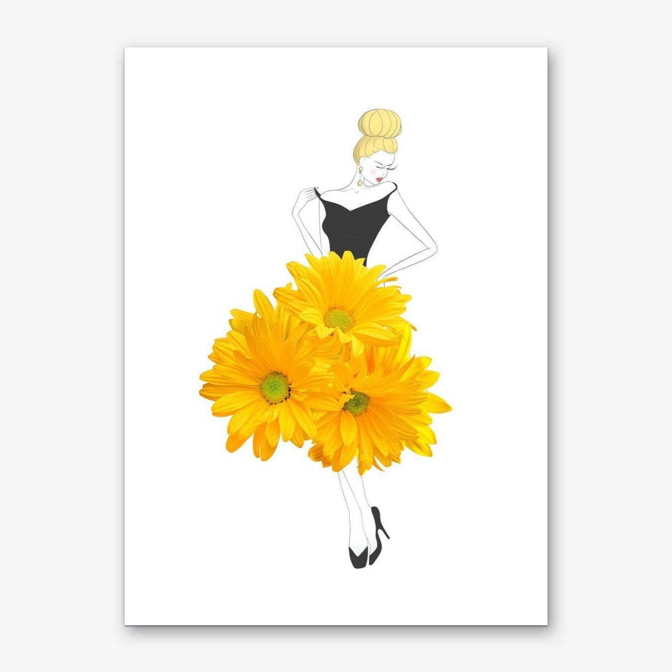 Fashion Chrysanthemums Art Print