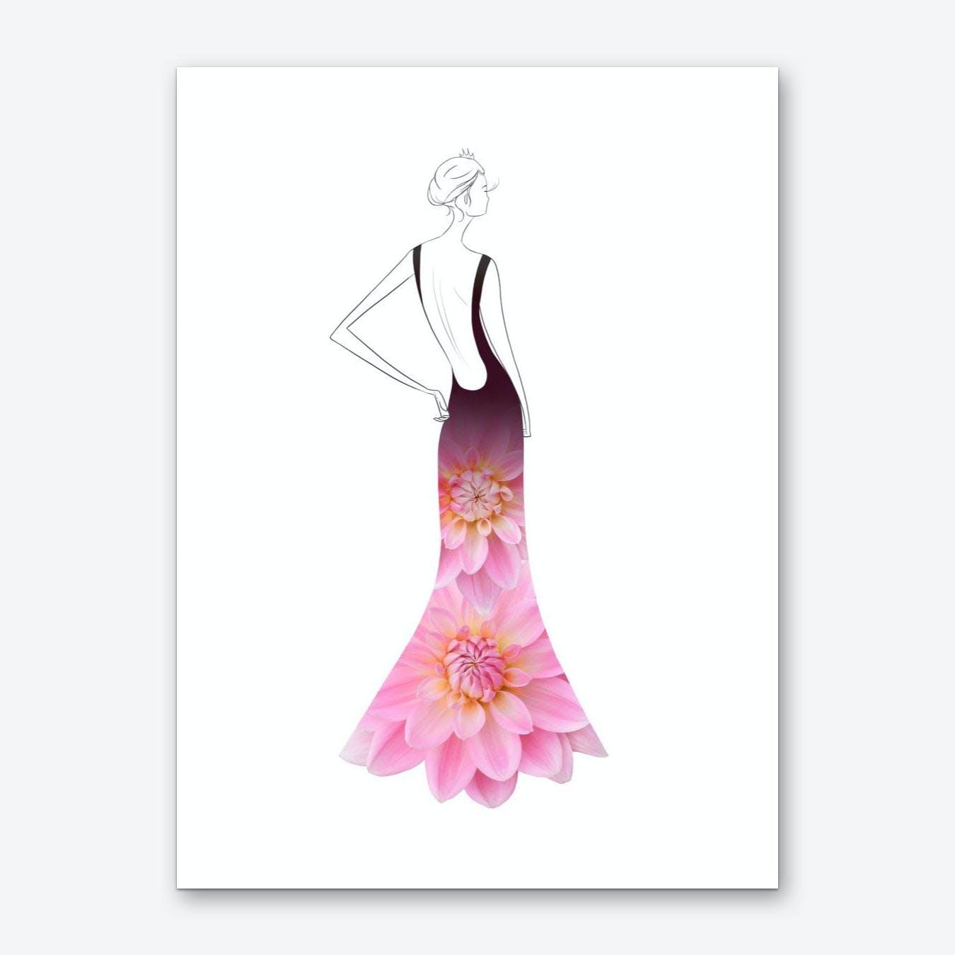 Fashion Dahlias Art Print