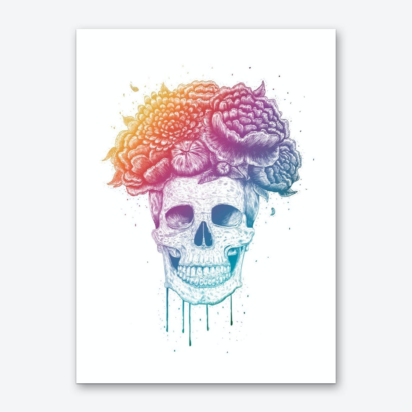 Colorful Skull Art Print
