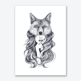 Fox Girl Art Print
