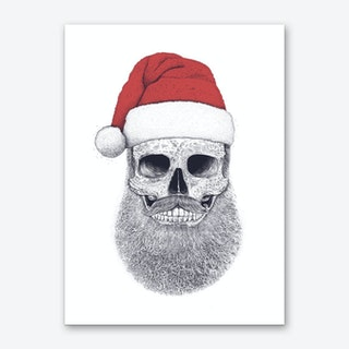 Santa Skull Art Print