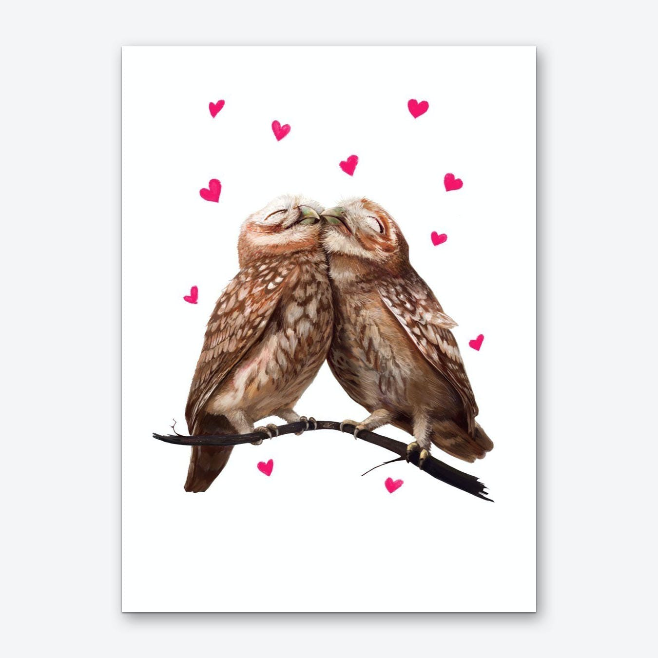 Lovely Owls Art Print