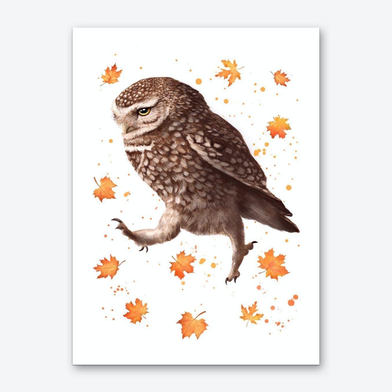 Autumn Owl Art Print