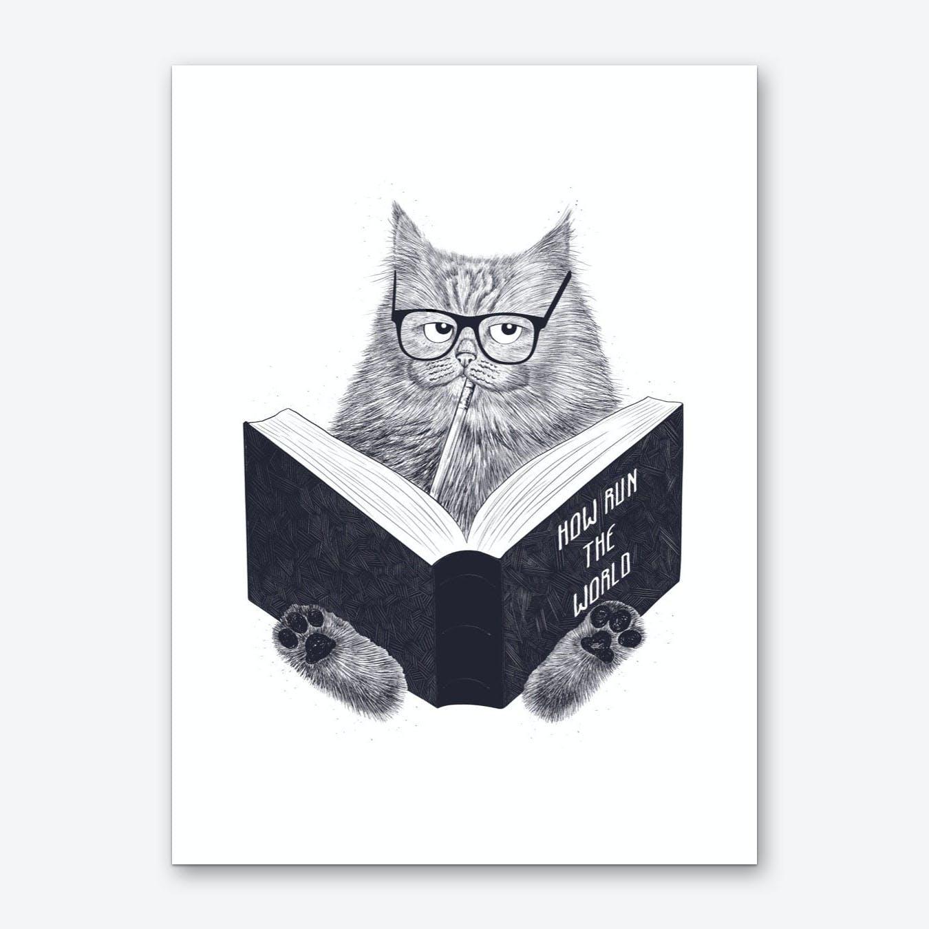 Smart Cat Art Print