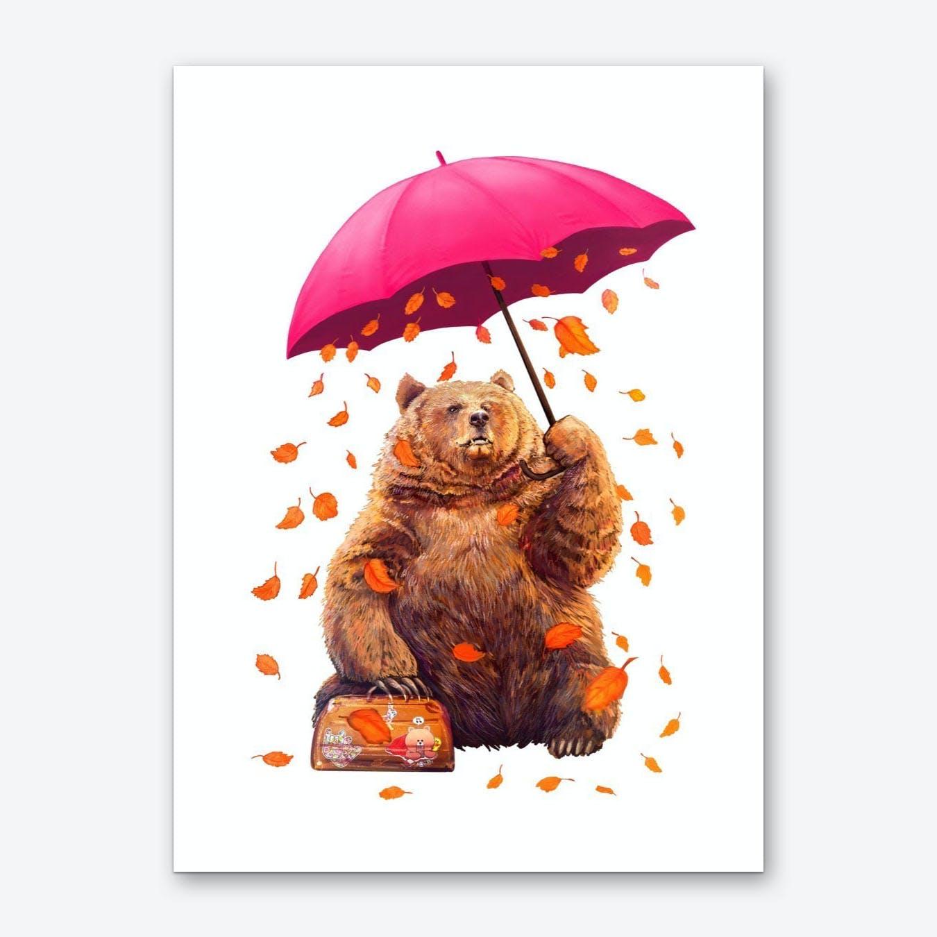 Autumn Bear Art Print