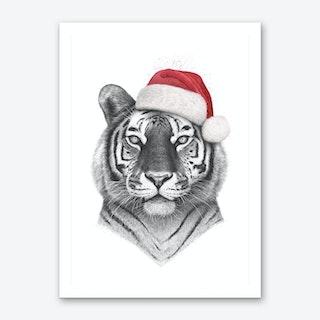 Christmas Tiger Art Print