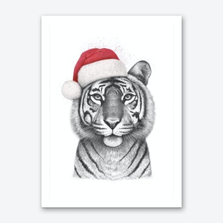 Christmas Tigress Art Print