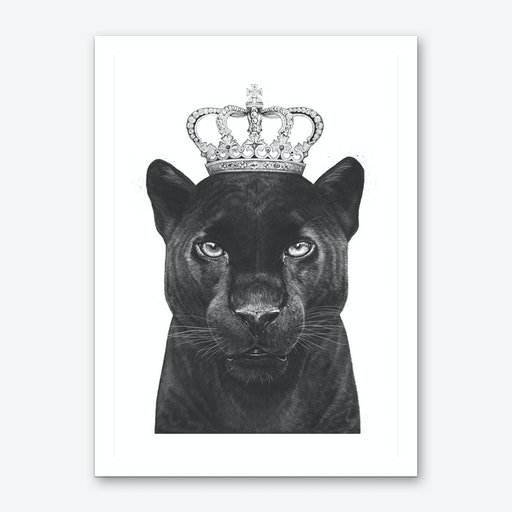 The King Panther Art Print