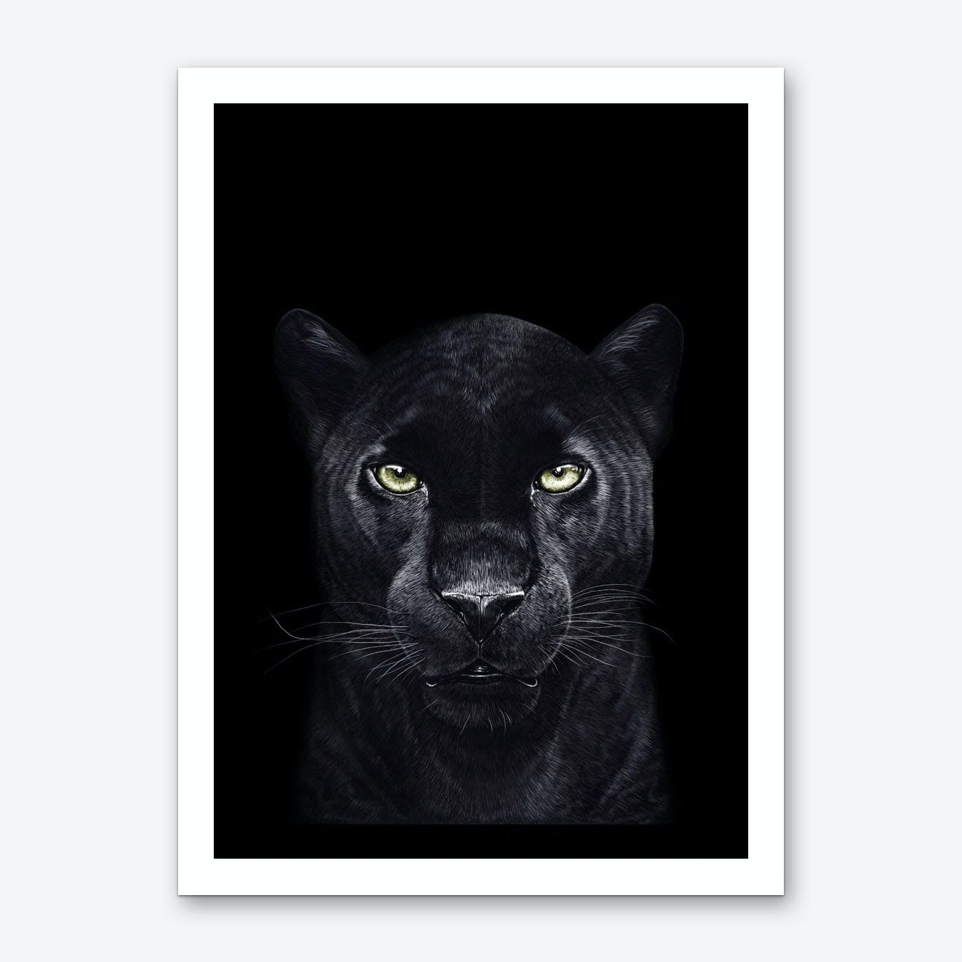 Black Panther on Black Art Print