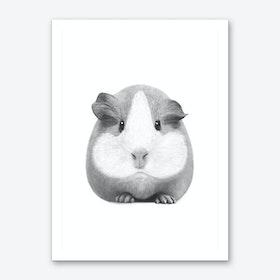 Guinea Pig Girl Art Print