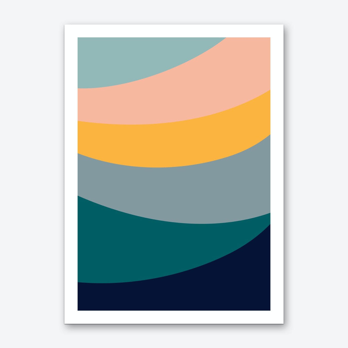 Waves Arc Art Print