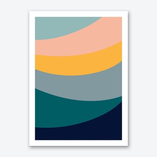Waves Arc Art Print