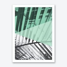 Palms Mint Art Print