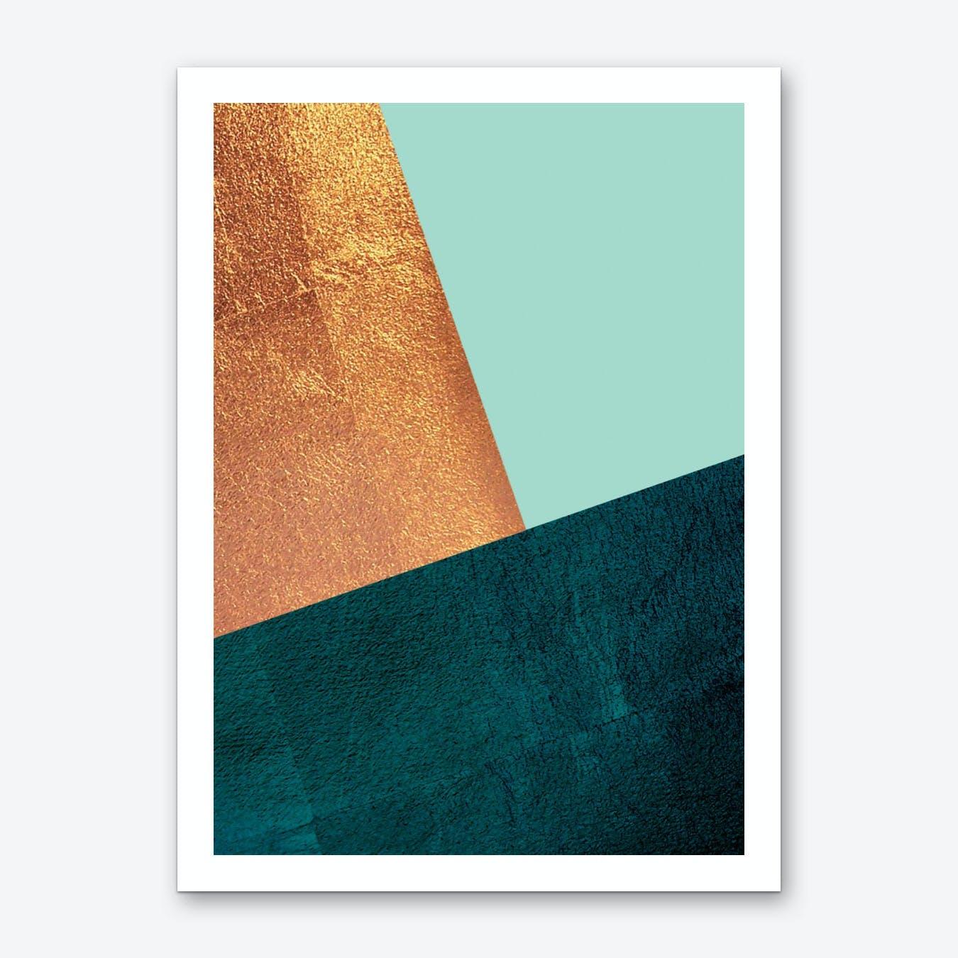 Kupfer Geo Art Print