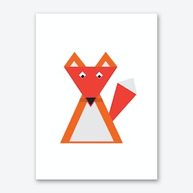 Fox Triangle Illustration Art Print