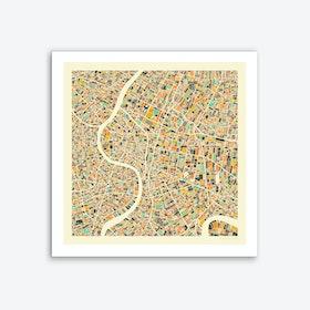 Bangkok Map Art Print