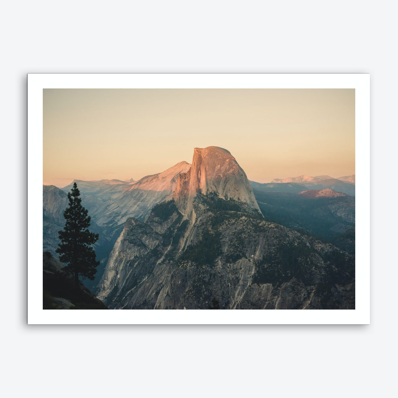 Shop Framed Art Print Half Dome Winter: Half Dome Art Print